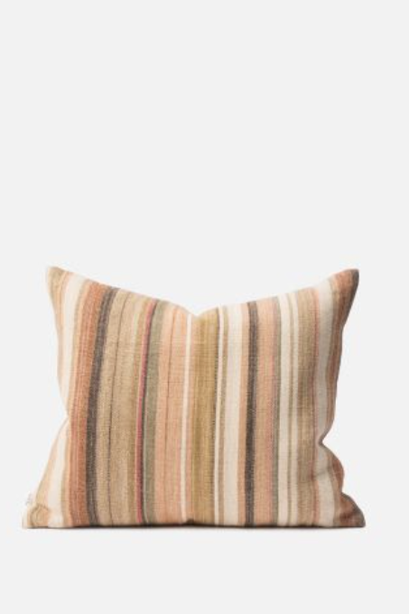 Nina Cotton/Jute Cushion - Multi