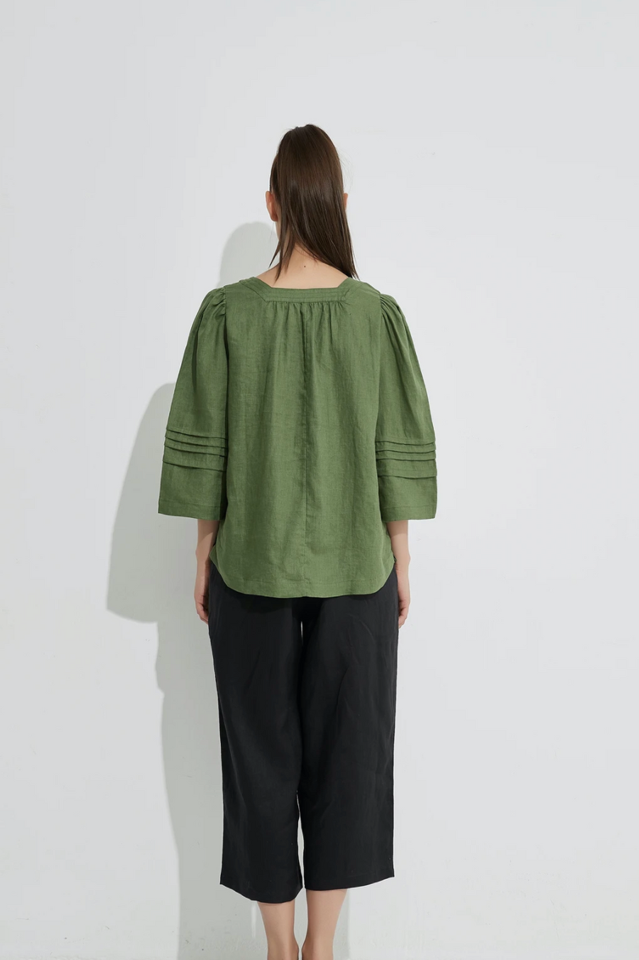 Square Neck Top - Ivy Green