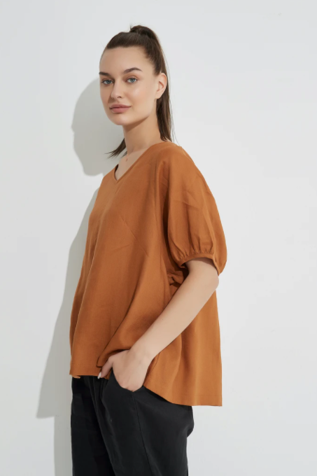 Bishop Sleeve Tee - Oak
