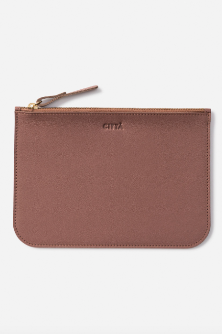 Leather Pouch -Plum