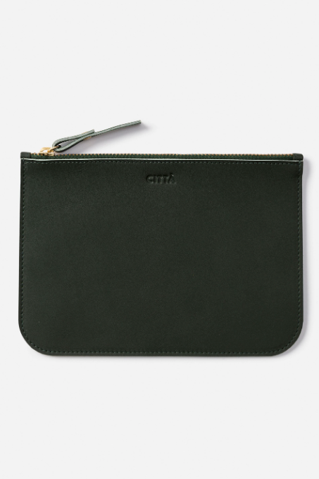Leather Pouch -Nori