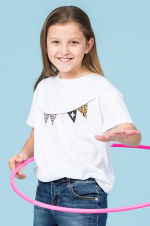 Kids Tee - White Garland
