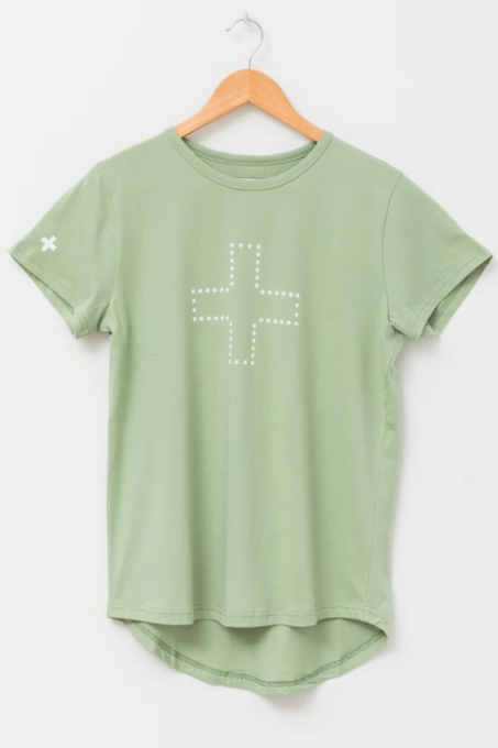 T-Shirt Green - Star Cross