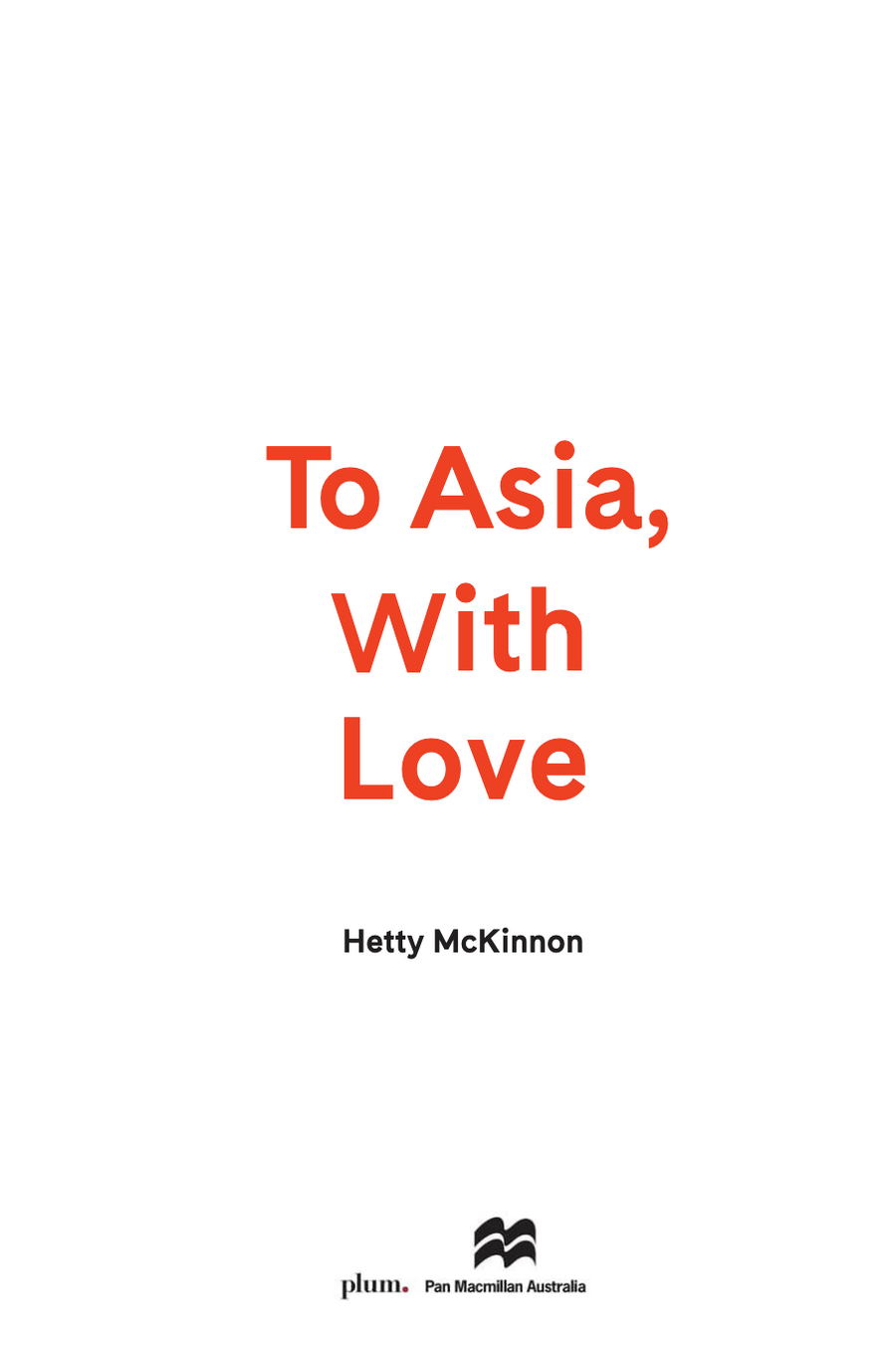 To Asia With Love