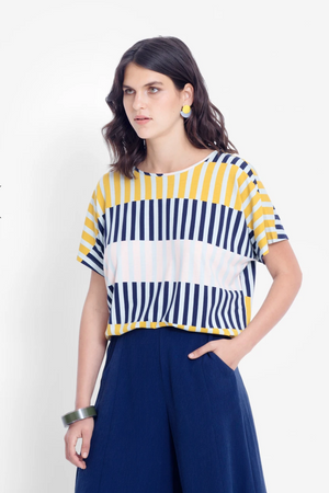 Valby Top - Navy Stripe