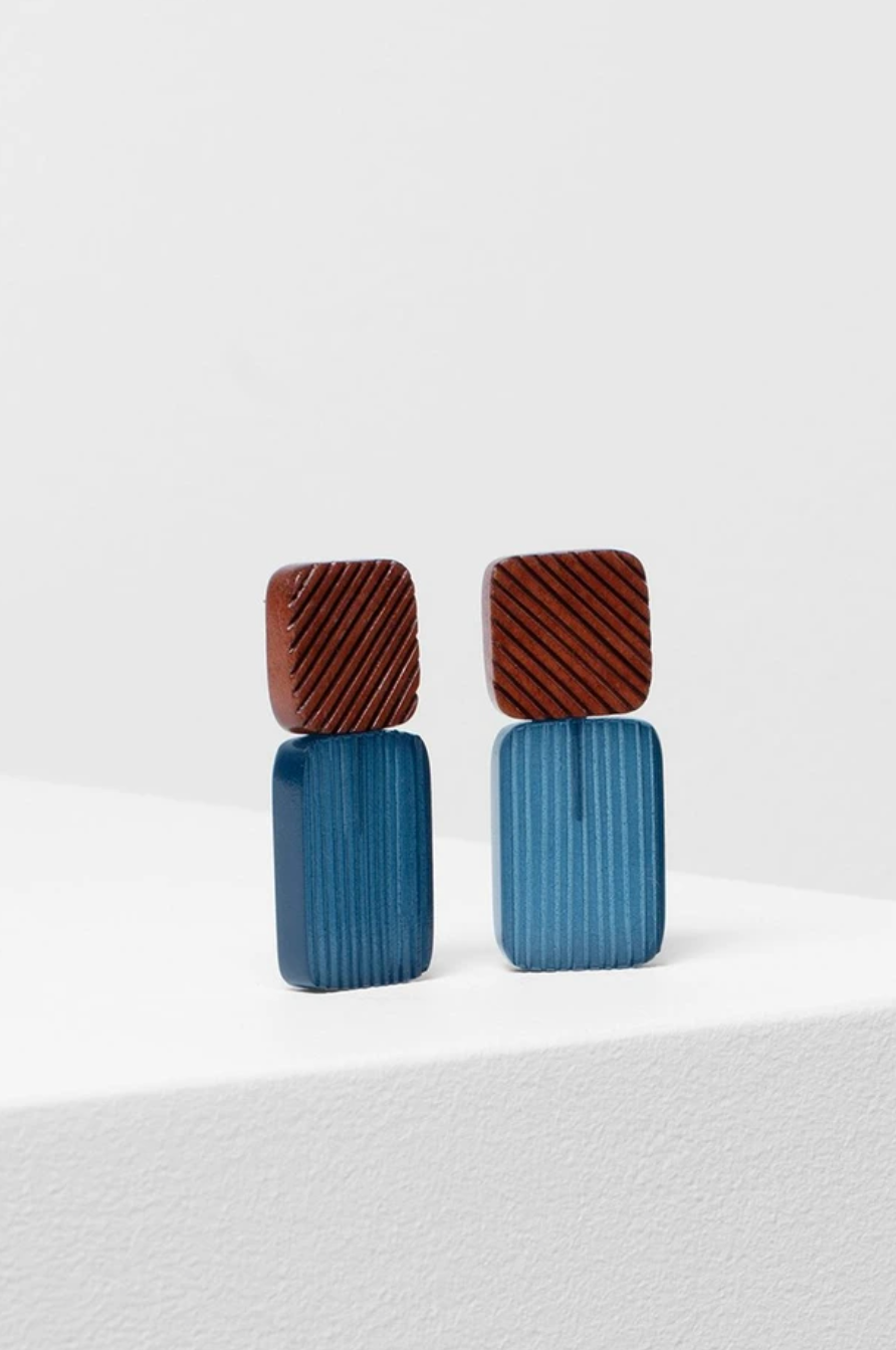 Smilla Earring - Clay/Blue