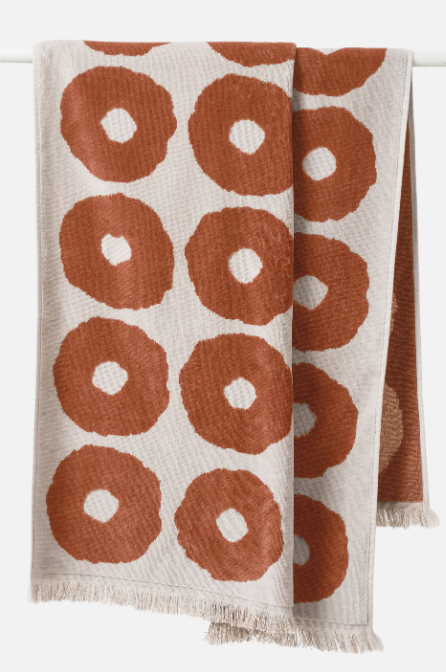 Etta Organic Cotton Bath Towel - Chestnut