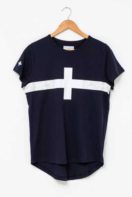 T-Shirt - Navy - Camo Stripe
