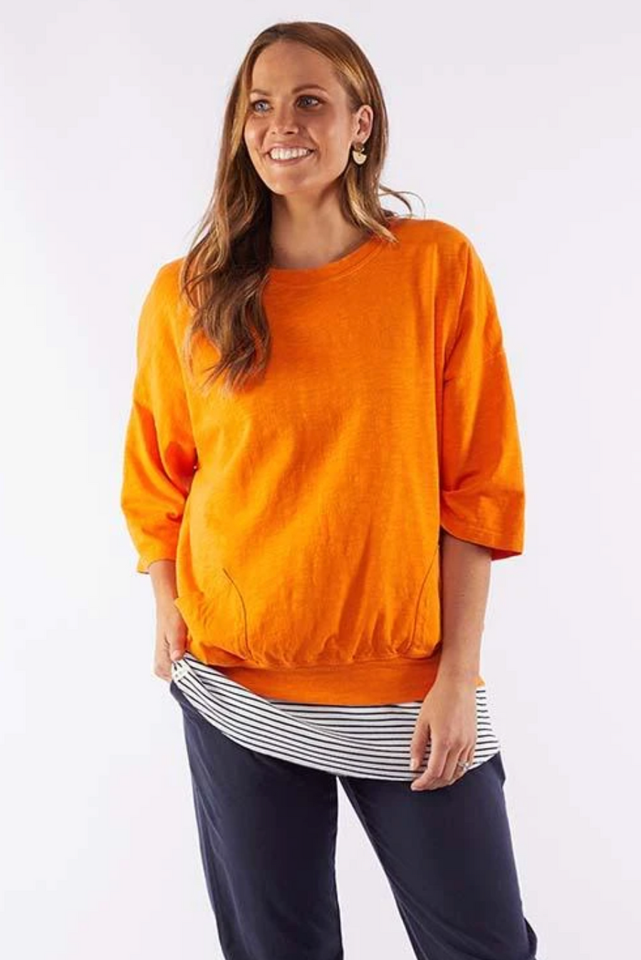 Fundamental Mazie Sweat - Orange