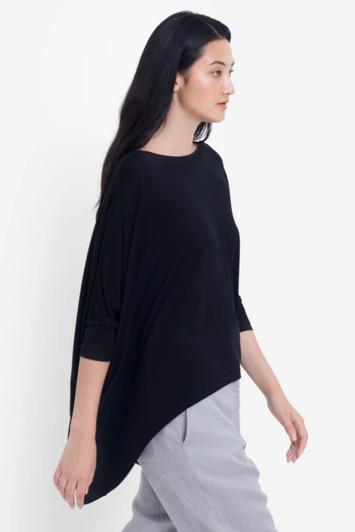 Wide Stretch Top - Black