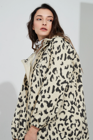 Back Detail Jacket - Animal Latte - Mookah