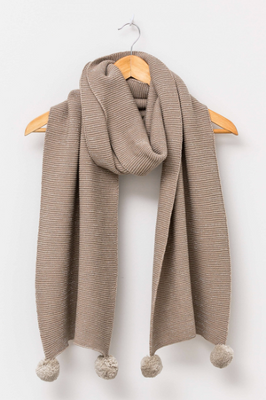 Scarf - Stone with Silver Lurex - Shop Online At Mookah - mookah.com.au