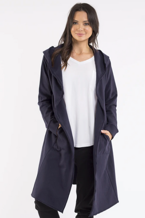 Naomi Hooded Cardigan - Navy - Shop Online At Mookah - mookah.com.au