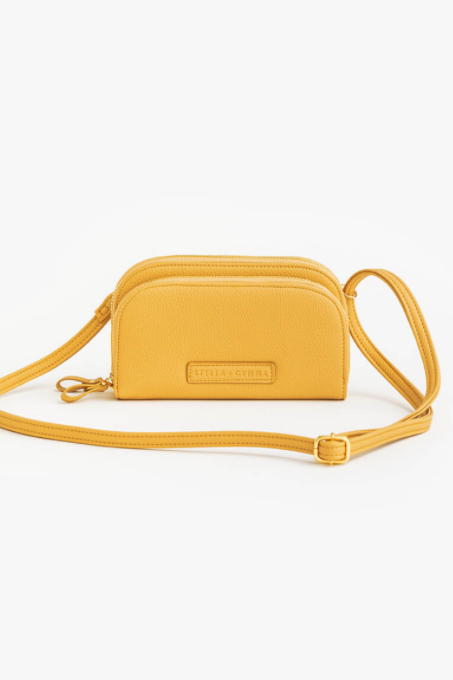 Chloe Duo Phone/ Wallet Bag - Marigold - Shop Online At Mookah - mookah.com.au