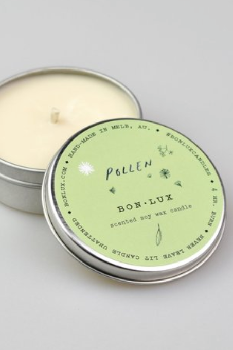 Travel Tin Candle - Pollen - Shop Online At Mookah - mookah.com.au