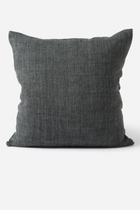 Linen Cushion - Slate - Shop Online At Mookah - mookah.com.au