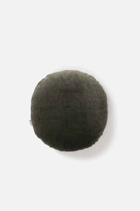 Velvet Round Cushion - Nori - Shop Online At Mookah - mookah.com.au