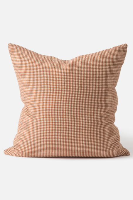 Bonnie Woven Cushion - Chestnut/Macaroon - Shop Online At Mookah - mookah.com.au