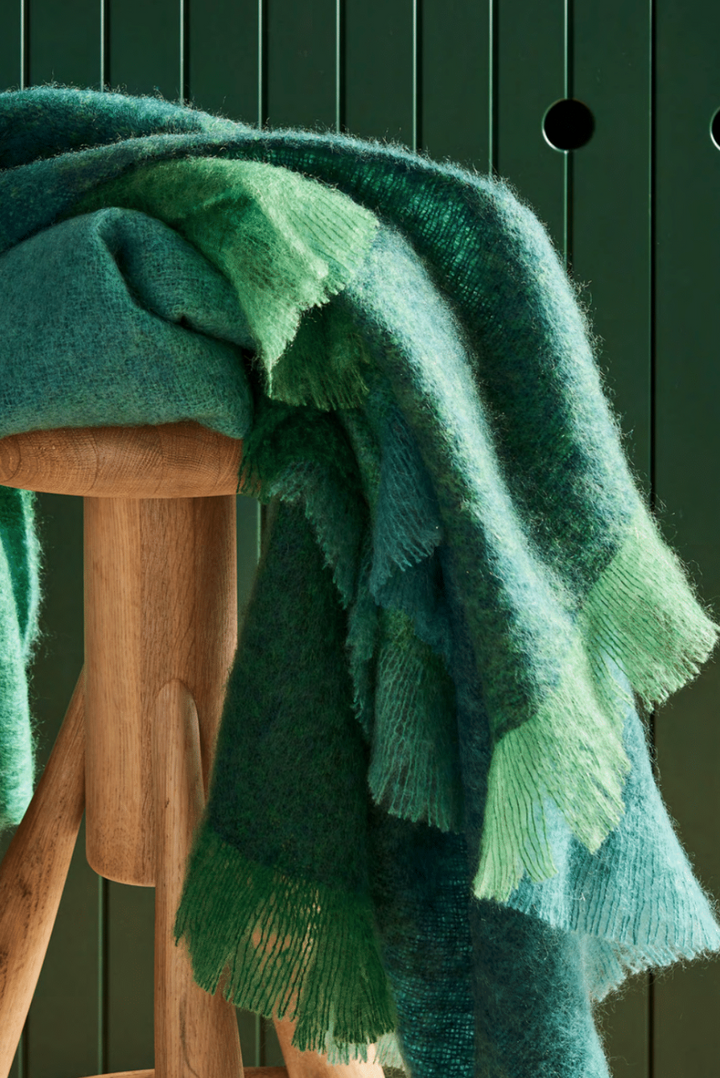 Emerald Mohair Throw