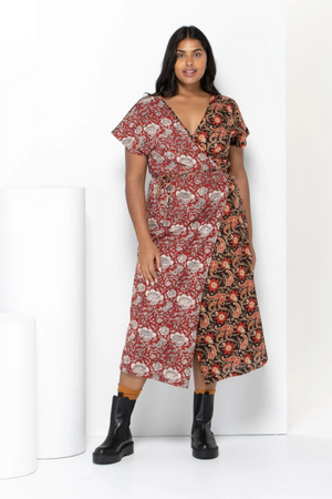 Times Wrap Dress - City Mix