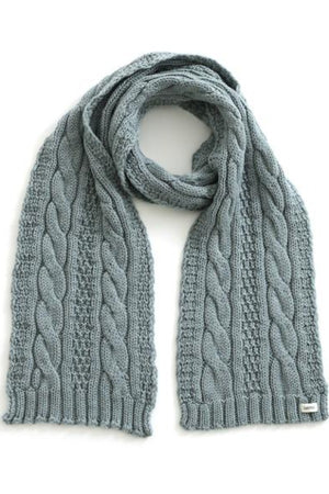 Trinity Cable Scarf - Sea - Shop Online At Mookah - mookah.com.au
