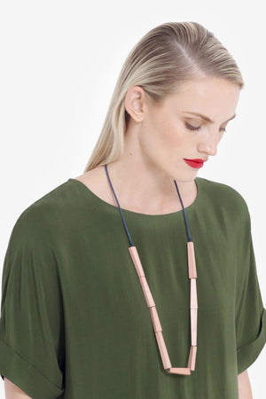 Vakern Necklace - Apr/Navy - Shop Online At Mookah - mookah.com.au