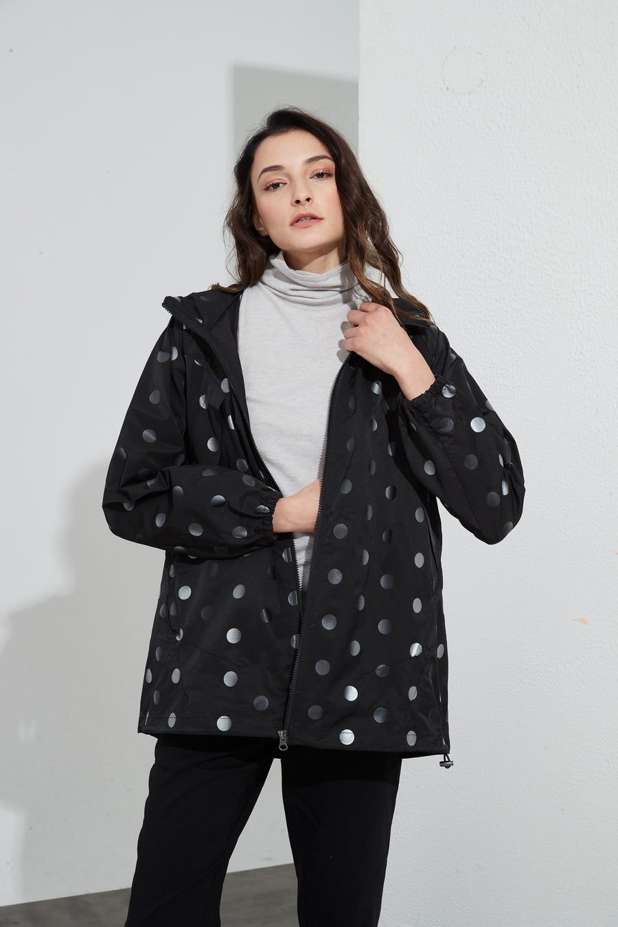 Back Detail Jacket - Black Spot - Shop Online At Mookah - mookah.com.au