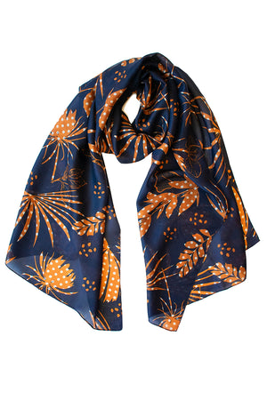 Rainforest Scarf - Indigo/Ginger