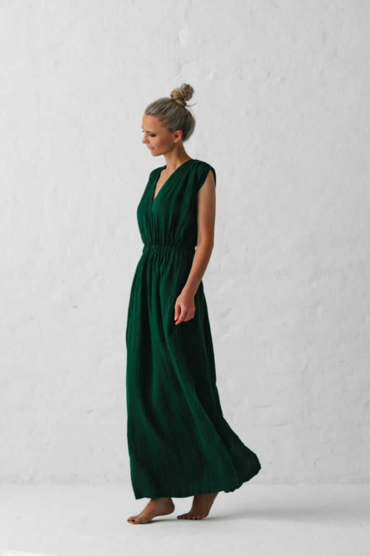 Column Dress - Green - Shop Online At Mookah - mookah.com.au