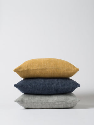 Linen Cushion - Indigo - Mookah