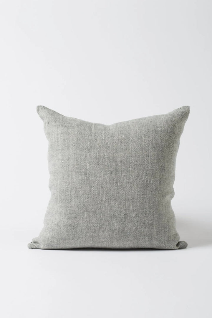 Linen Cushion - Grey - Shop Online At Mookah - mookah.com.au