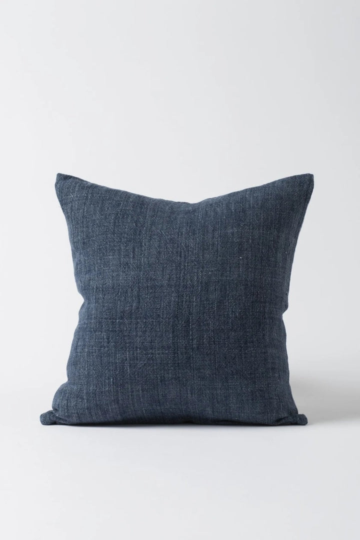 Linen Cushion - Indigo - Shop Online At Mookah - mookah.com.au