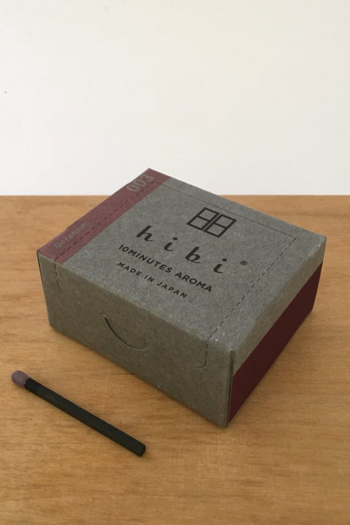 Hibi 10 min Incense Sticks - Large/Geranium - Shop Online At Mookah - mookah.com.au
