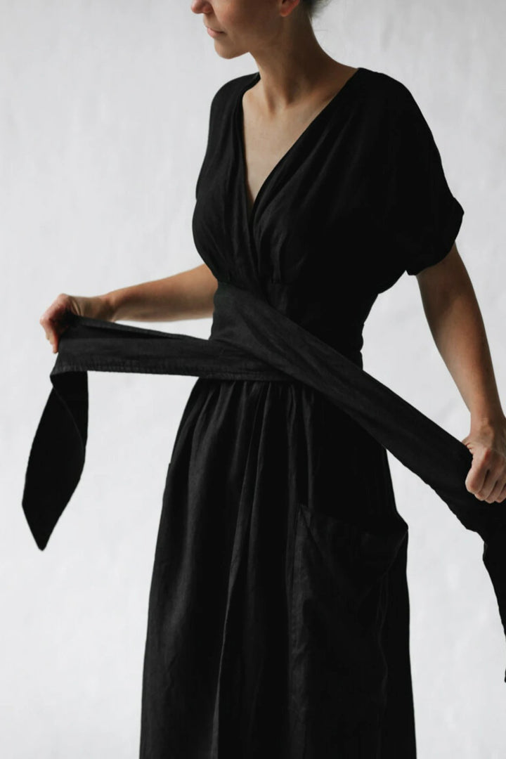 Kimono Dress - Black - Shop Online At Mookah - mookah.com.au