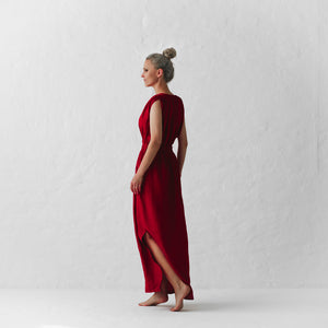 Column Dress - Red - Shop Online At Mookah - mookah.com.au