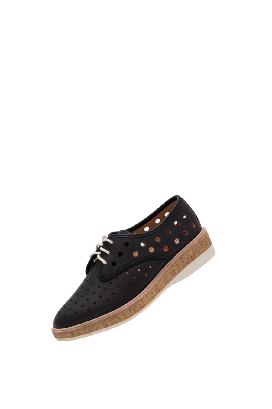 Derby Midsole Cork Circle Punch - Black