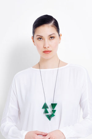 Prism Necklace - Green/Black Chain - Shop Online At Mookah - mookah.com.au