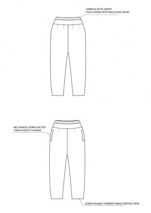 Gallery Pant - Ash Blue - Shop Online At Mookah - mookah.com.au