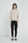 Relaxed High Neck Knit - Champagne Pink