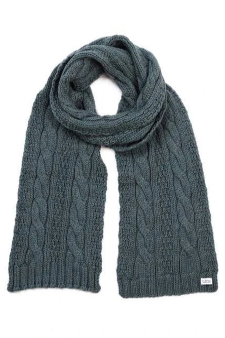 Trinity Cable Scarf - Duck Egg - Mookah