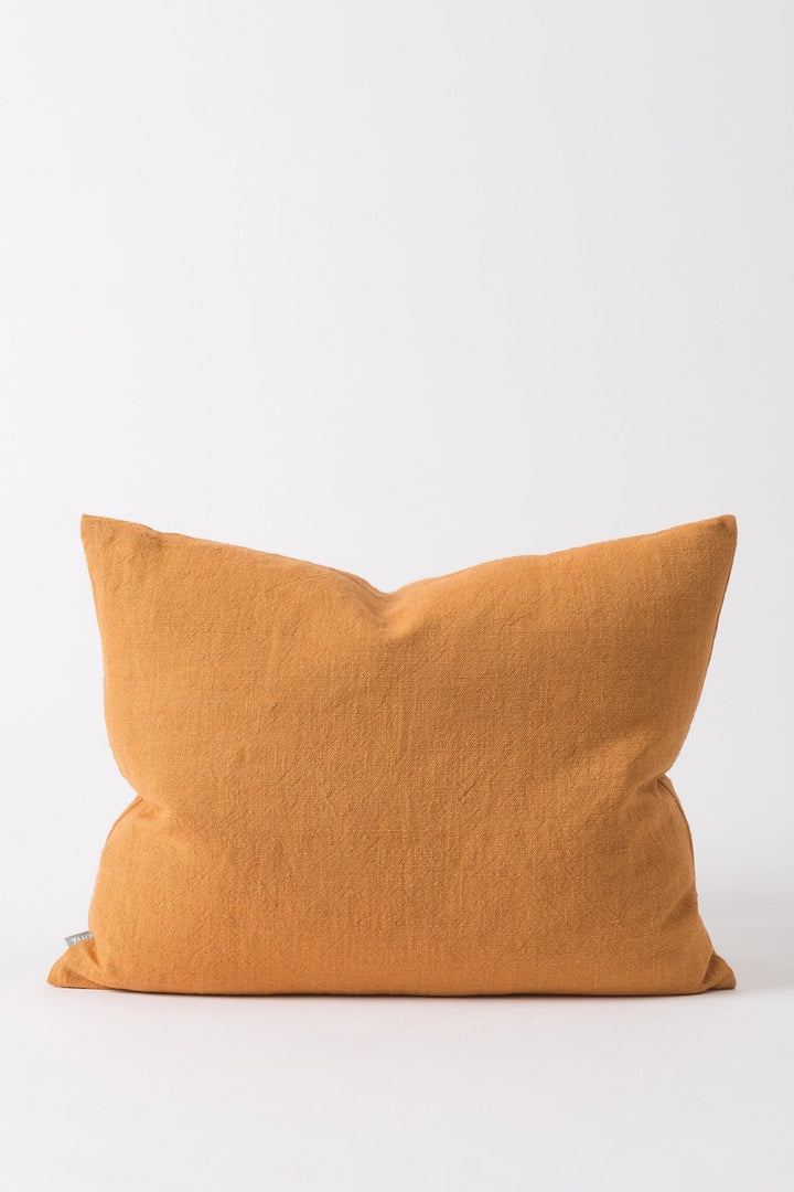 Linen Cushion - Pumpkin - Shop Online At Mookah - mookah.com.au