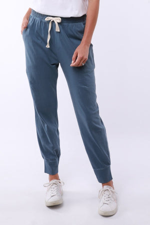 Wash Out Lounge Pant - Steel Blue - Shop Online At Mookah - mookah.com.au