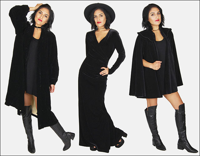 One More Chance Vintage - Vintage Black Night Velvet Halloween Witchy Collection