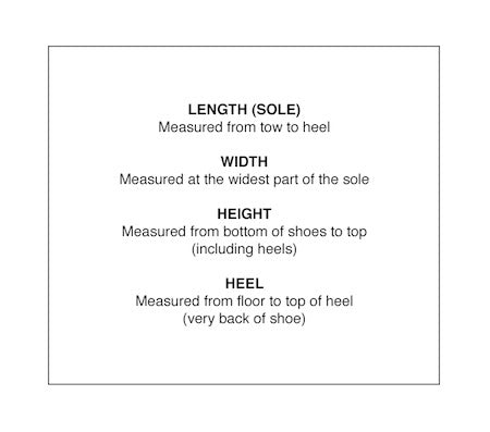 One More Chance - How To Measure Shoes