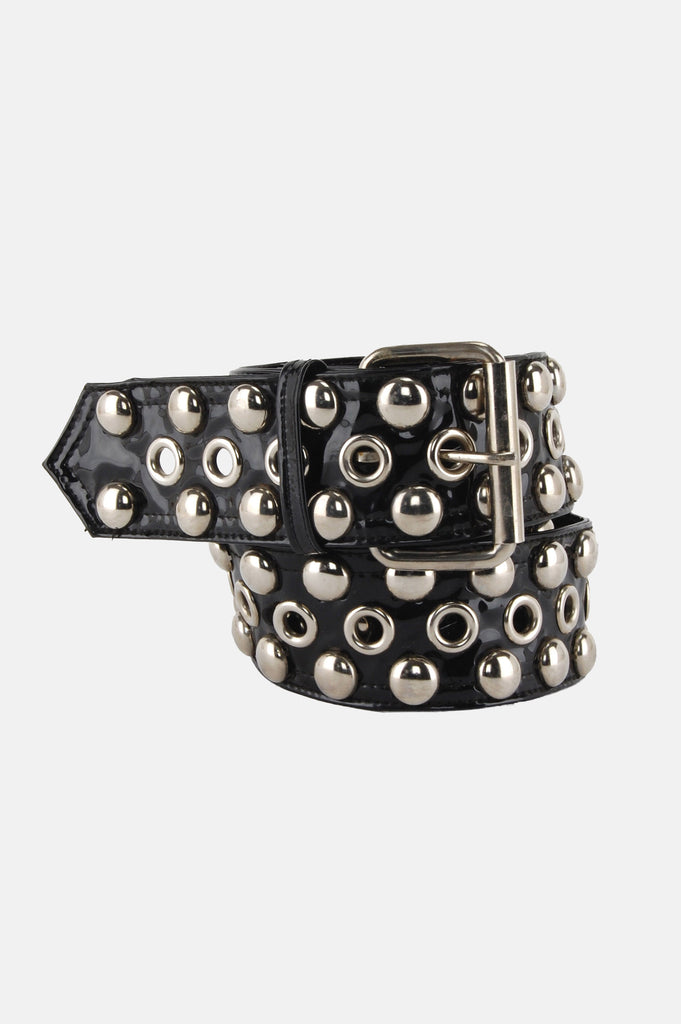 One More Chance Vintage - Vintage Betsey Johnson Patent Studded Belt