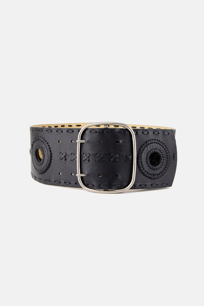 One More Chance Vintage - Vintage Betsey Johnson Wide Leather Belt