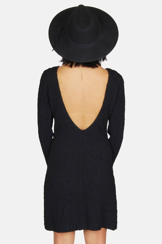 Endless Night Textured Mini Dress