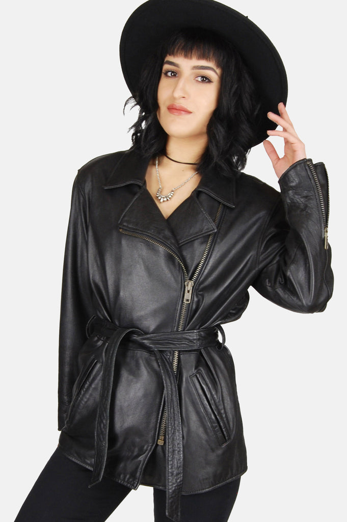 One More Chance Vintage - Vintage Ridin' High Buttery Soft Leather Jacket