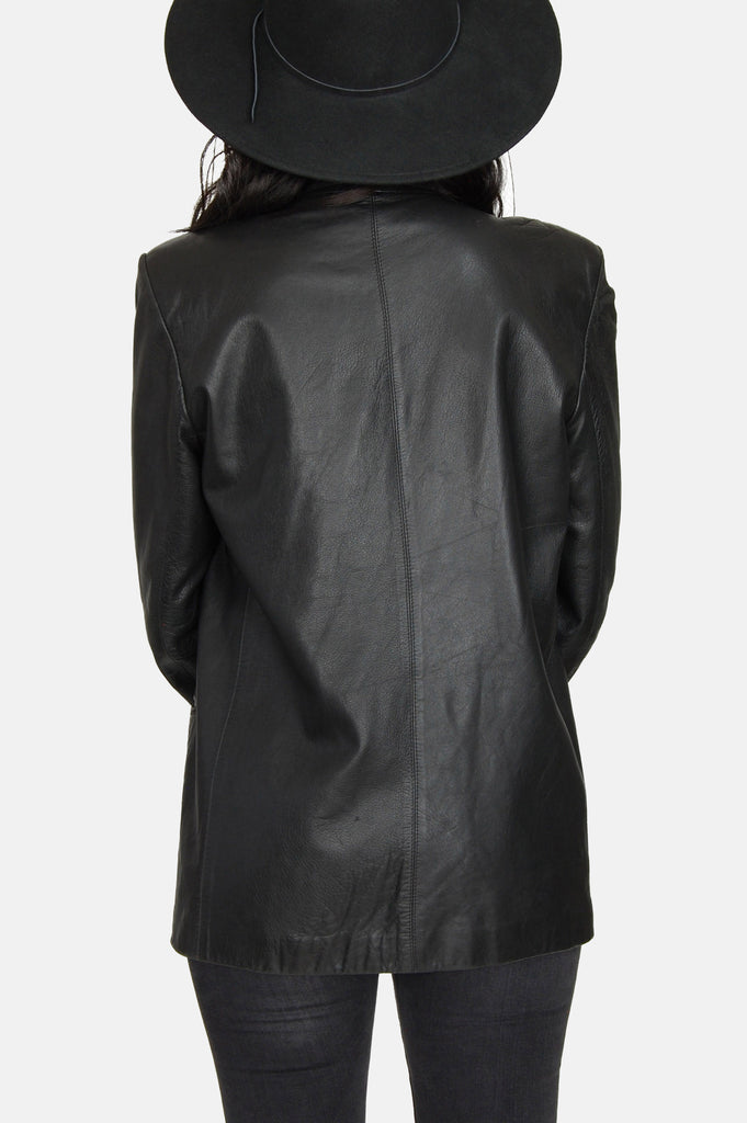 One More Chance Vintage - Vintage City Walker Buttery Soft Leather Blazer Jacket