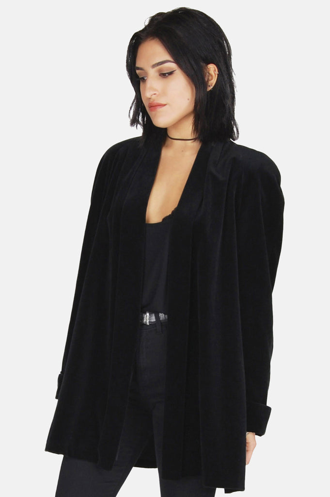 One More Chance Vintage - Vintage Darkness Black Velvet Jacket
